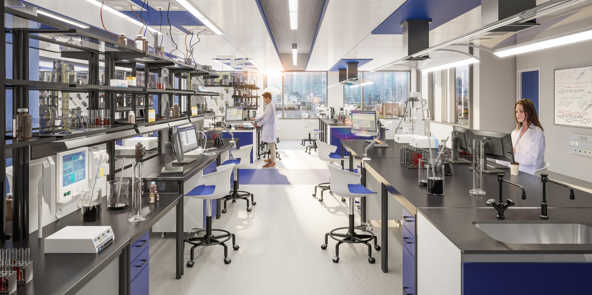 Scientists work in state-of-the-art lab space at Innolabs